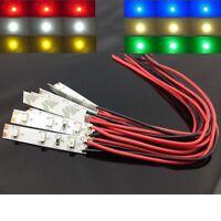 S876 - Sortiment 6 Stück LED Hausbeleuchtung 5cm mit Kabel 8-16V Set 6 Farben