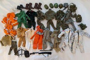 Huge Lot Vintage G.I. Joe Clothes Gear Accessories - Hasbro Japan Hong Kong
