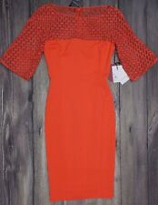 ZUHAIR MURAD SHORT SLEEVE MINI DRESS>BNWT>GENUINE>£2000+>CORAL>SIZE 38it>RARE>