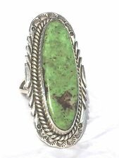 Vintage Sterling Silver Native American Navajo Turquoise Ring Size 7.5  Sign RC