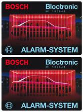 2x Bosch Bloctronic Auto Alarm Aufkleber – Alarmanlage Scheibenaufkleber