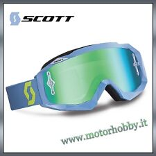 OCCHIALE MASCHERA CROSS ENDURO SCOTT MX HUSTLE STEEL GREY GREEN LENS CHROME