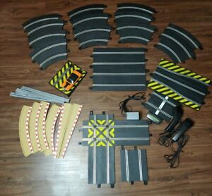 (34 Pc Lot) 1/32 Scale Slot Car Track Hornby Sport Various SizesScalextric 1:32