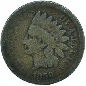 UNITED STATES / 1859 INDIAN HEAD PENNY / 1 CENT / LIBERTY  #WT24561