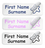 50 Waterproof PVC & SHOE Name Labels School Name Tags