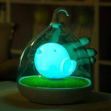 lampada notturna Twitter uccellino batteria ricaricabile varie luminosità D:17CM