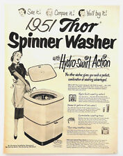Vintage 1951 Thor spinner Washer washing machine advertisement print ad art