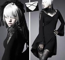 Robe tunique gothique lolita bohème manches évasées fashion dentelle PunkRave