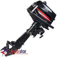 6.0HP Two Stroke Power Outboard Motor Boat Engine Water Cooling CDI System