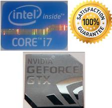 NVIDIA GeForce GTX + Intel Inside Core i7 PC Windows 7 Adesivo 8 XP VISTA 10 Regno Unito