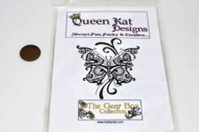 Queen Kat Designs - steampunk butterfly ink stamp unmounted