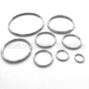 CHOOSE SMALL - EXTRA LARGE  Keyrings / Split Rings