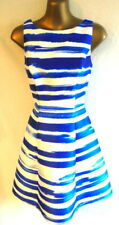 Coast 8 dress in cobalt blue & white stripes fit & flare BNWT - RRP £129 (b306
