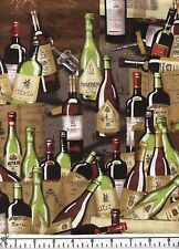 Vino Bottles and Crates Quilt Fabric - Free Shipping - 1 Yard