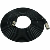 GLS Audio 25 foot Mic Cable Patch Cords  XLR Male to Female Black Microphone