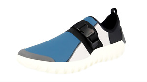 Prada Mens Blue And White Synthetic Rubber Sneakers Size 9.5