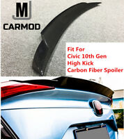 High Kick Carbon Fiber Trunk Spoiler Fit For Honda Civic 10th Gen Sedan 2017+