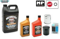 Pack Vidange Drag Huile 20w50 Boite / Carter Harley Davidson  TWIN CAM