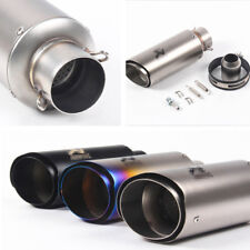 Titanium Color Stainless Steel Doubledeck Motorbike Exhaust Muffler Pipe 35-51mm