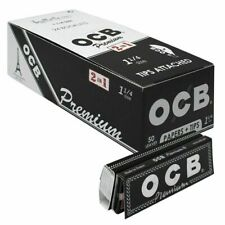 Full Box (24) OCB Premium 1 1/4 Size Rolling Papers With Filter Tips