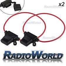 2x Waterproof 30A 12V 24V Inline ATC Standard Blade Fuse Holder 12AWG
