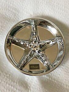 """Croscill Sea Bright Embossed Starfish Design 5"""" Soap Dish NEW - Mirror Glaze"""