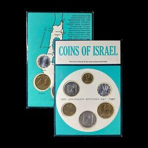 1967 Coins of Israel Set - Jerusalem Specimen Issues - AM 5727 - Lot C
