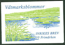SWEDEN (H495) Scott 2280a, Wetland Flowers booklet, VF