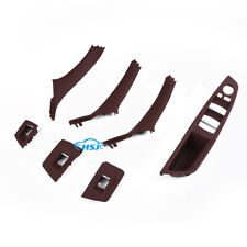 Red-brown Door Handle Recessed Grip Switch Panel Kit Fit For BMW 528i 530i 535i