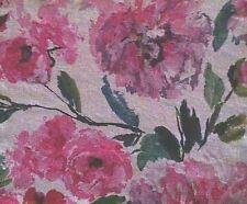 DESIGNERS GUILD Shanghai Garden Trailing Rose Pink Green White Linen Remnant New