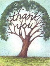 """""""Thank You"""" Recycled Paper Greetings Card TREE of LIFE"""