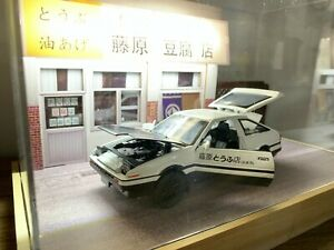 ######1/18 1/32 Initial D Tofu Shop With LED Light Yumebox Display Toyota AE86##