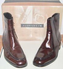 6f04810baf50 Mens Florsheim Essex Black Or Cherry Leather Boots