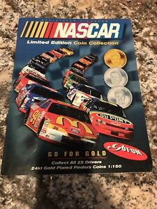 1997 Official Nascar Limited Edition Coin Collection With All 25 Drivers.