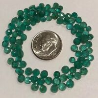 EMERALDS - NATURAL FACETED ROUND - Loose Gems ~ 3mm-5mm- 1 STONE/$6.99- FREESHIP