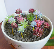 Artificial Succulents Mini 17 Flocking Grass