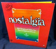 """Nostalgia, 50's-60's Rock / Pop / R&B Soul Compilation, 2-12"""" Vinyl Lps, 1974"""