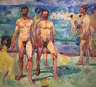 EDVARD MUNCH painting NUDE MEN BATHING reproduction Fine ART CANVAS PRINT