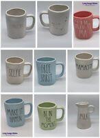 "Rae Dunn LL Large Letter Coffee Mug Assorted HTF 2018-2019 ""James Makes U Smile"""