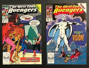 West Coast Avengers (1985) 42 & 45 VF+ parts 1 & 4 of  Vision Quest storyline