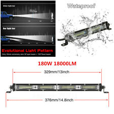 "1Pcs 13"" 180W Spot Flood Combo LED Work Light Bar Car Off Road Driving Fog Lamp"