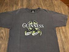 Guinness Feeling' Lucky Medium Gray T Shirt Irish Beer Brewery Alcohol Stout