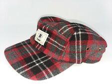 BODEGA Flannel 5 Panel Camp Cap Hat Red Black Grey Adjustable