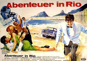 Jean-Paul Belmondo in ABENTEUER IN RIO  EA A 0 Plakat von 1964