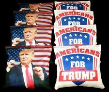 Custom USA TRUMP make American great  8 ACA Regulation Cornhole Bean Bags