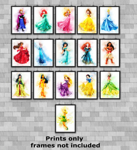 Disney Princesses Children's Bedroom Wall Art Poster Print Picture Gift A5 A4 A3
