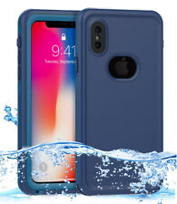 Apple iPhone X 10 Swimming Waterproof Case Cover with Screen Protector & Strap