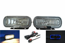 12V 55W H3 Motorbike Motorcycle Fog Lights with Blue Ring & Wiring Switch Kit