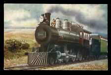 Railway USA Missouri Katy Flyer Locomotive Steam Engine 440 Oilette PPC