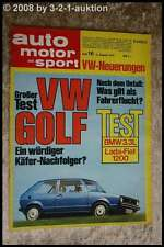 AMS Auto Motor Sport 16/74 BMW 3.3L Bricklin BMW 320 VW Golf